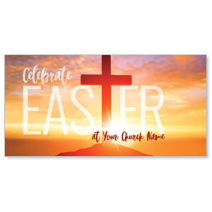 "Easter Cross Sunrise 11"" x 5.5"" Oversized Postcards"