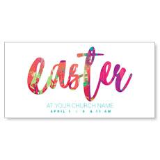 Easter Paint Splatter XLarge Postcard