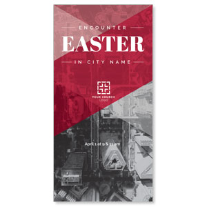 Encounter Easter City XLarge Postcards