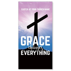 Grace Changes Everything Cross XLarge Postcards