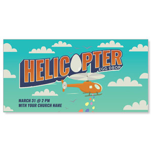 "Helicopter Egg Drop 11"" x 5.5"" Oversized Postcards"