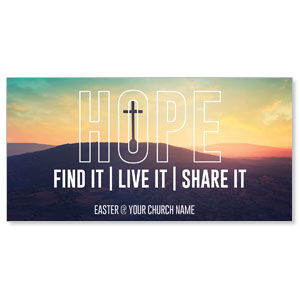 "Hope Hill Sunrise 11"" x 5.5"" Oversized Postcards"