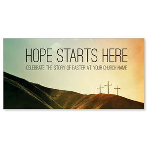 Hope Starts Here Calvary XLarge Postcards