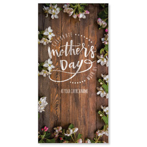 "Flowers and Dark Wood 11"" x 5.5"" Oversized Postcards"