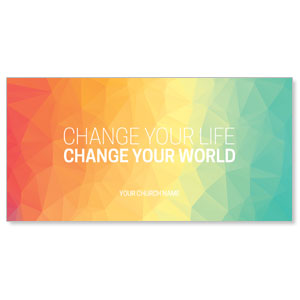 Change Your World XLarge Postcards