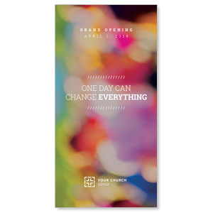 Colorful Change Everything XLarge Postcards