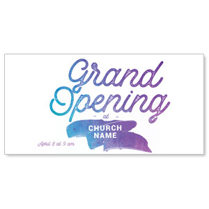Grand Opening Paint XLarge Postcards
