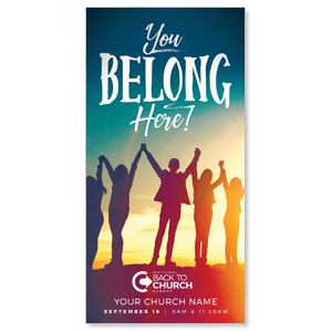 "BTCS You Belong Here 11"" x 5.5"" Oversized Postcards"