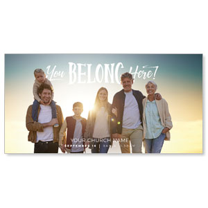 "BTCS You Belong Here Family 11"" x 5.5"" Oversized Postcards"