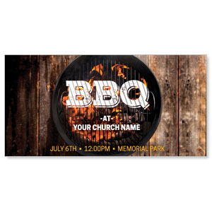 "BBQ Grill 11"" x 5.5"" Oversized Postcards"