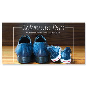 "Celebrate Dad Shoes 11"" x 5.5"" Oversized Postcards"