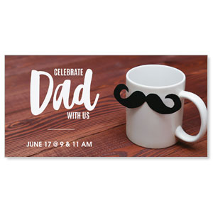 "Dad Mustache Mug 11"" x 5.5"" Oversized Postcards"