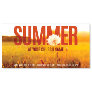 "Summer Field 11"" x 5.5"" Oversized Postcards"