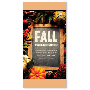 "Fall Events Chalkboard 11"" x 5.5"" Oversized Postcards"