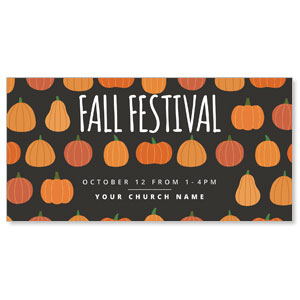 Pumpkins Fall Festival XLarge Postcards