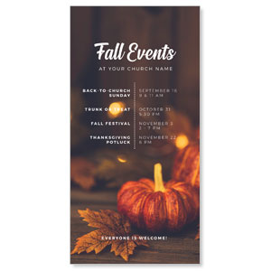 "Fall Events Gold Lights 11"" x 5.5"" Oversized Postcards"