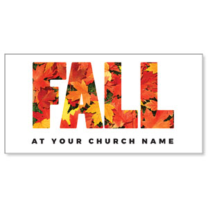 Fall Bold Leaves Church Postcards