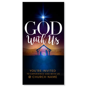 "God With Us Advent 11"" x 5.5"" Oversized Postcards"
