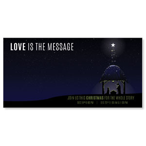 "Love Is the Message 11"" x 5.5"" Oversized Postcards"