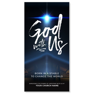 "God With Us Stable 11"" x 5.5"" Oversized Postcards"