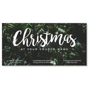 "Evergreen Christmas 11"" x 5.5"" Oversized Postcards"