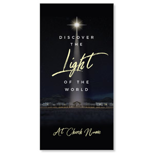 "Discover Light of World 11"" x 5.5"" Oversized Postcards"