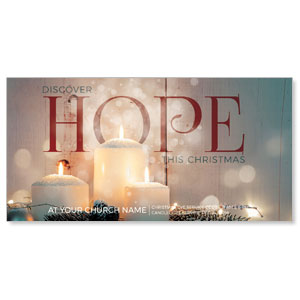 "Candles Hope 11"" x 5.5"" Oversized Postcards"