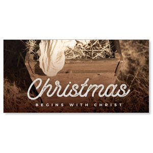 "Christmas Manger 11"" x 5.5"" Oversized Postcards"