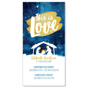 "Painted Nativity 11"" x 5.5"" Oversized Postcards"