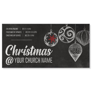 "White Chalk Christmas 11"" x 5.5"" Oversized Postcards"