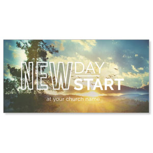 "New Day New Start 11"" x 5.5"" Oversized Postcards"
