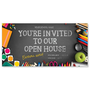 "School Supplies 11"" x 5.5"" Oversized Postcards"