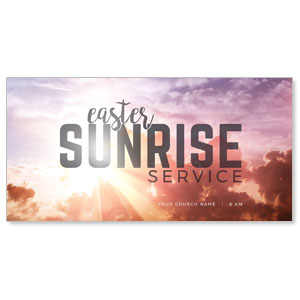 Easter Sunrise Clouds Church Postcards