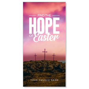 Hope of Easter Pink Church Postcards