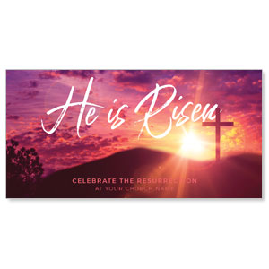 Pink Sunrise Risen Church Postcards