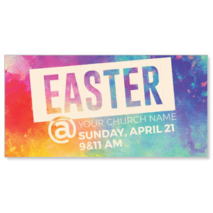 Easter At Colorful Church Postcards
