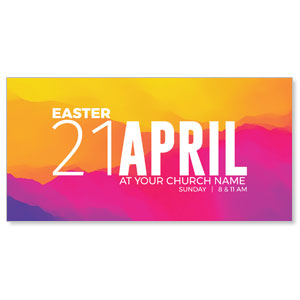 Easter Event Date Church Postcards