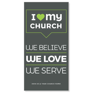 ILMC Believe Love Serve Church Postcards