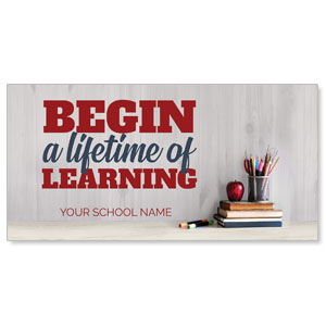 "School Books Lifetime Learning 11"" x 5.5"" Oversized Postcards"