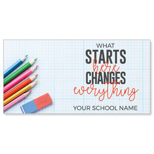 "Starts Here Changes 11"" x 5.5"" Oversized Postcards"