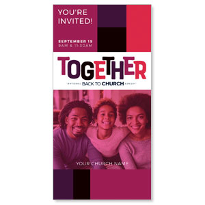 "BTCS Together AFA 11"" x 5.5"" Oversized Postcards"