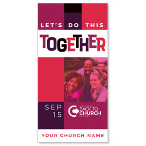 "BTCS Together People 11"" x 5.5"" Oversized Postcards"