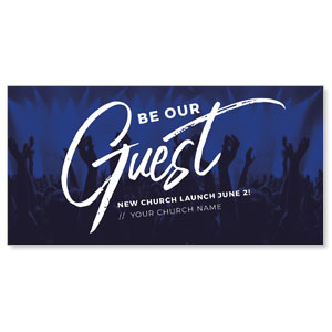 "Guest Blue Praise 11"" x 5.5"" Oversized Postcards"