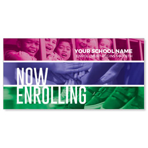 "School Enrolling 11"" x 5.5"" Oversized Postcards"