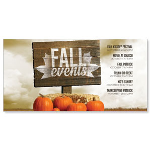 "Fall Events Pumpkins 11"" x 5.5"" Oversized Postcards"