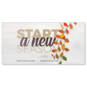 "Fall Branch Start 11"" x 5.5"" Oversized Postcards"
