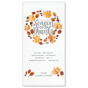 "Season of Thanks 11"" x 5.5"" Oversized Postcards"