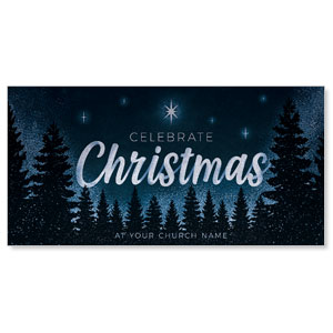"Christmas Forest Silhouette 11"" x 5.5"" Oversized Postcards"