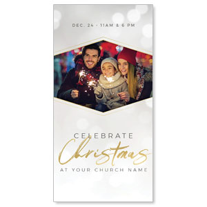 "Family Celebrate Christmas Hispanic 11"" x 5.5"" Oversized Postcards"