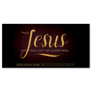 "Jesus True Gift 11"" x 5.5"" Oversized Postcards"